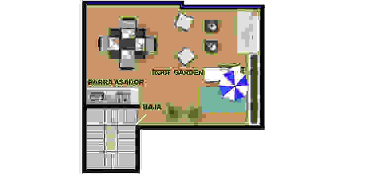 roof actual. de DUOBUS M + L arquitectos Moderno