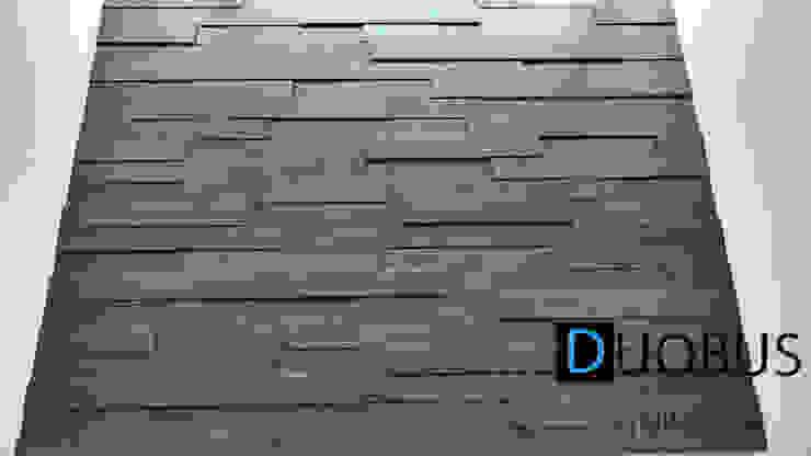 detalle en muro Paredes y pisos de estilo moderno de DUOBUS M + L arquitectos Moderno
