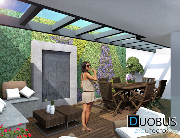 terraza. Balcones y terrazas modernos de DUOBUS M + L arquitectos Moderno