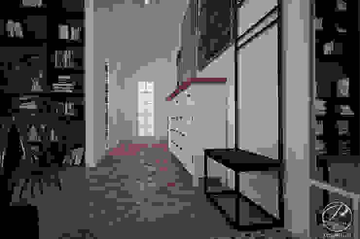 Modern corridor, hallway & stairs by Progetti Architektura Modern