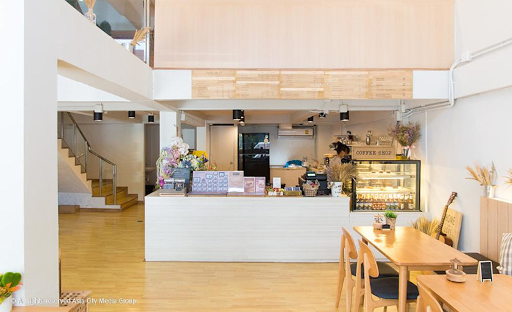Round about the C0-working space and coffee bar style @Eakmai 16 โดย Glam interior- architect co.,ltd