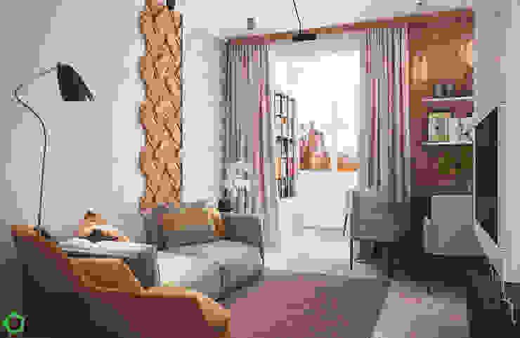 Living room Scandinavian style living room by Polygon arch&des Scandinavian