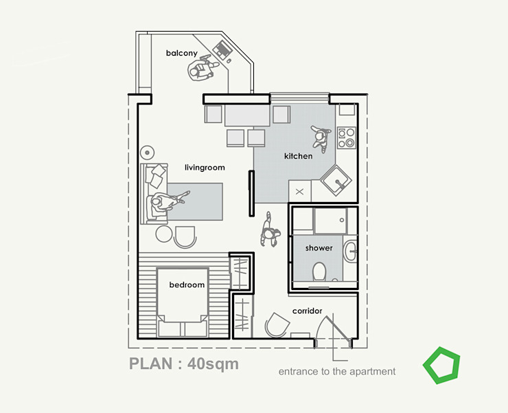 Floor plan by Polygon arch&des