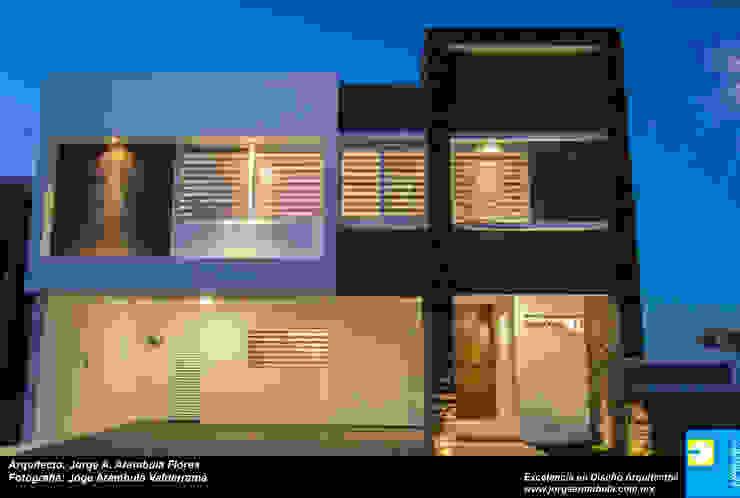FACHADA Casas minimalistas de Excelencia en Diseño Minimalista Piedra