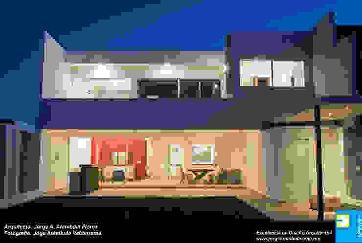 TERRAZA TRASERA Casas minimalistas de Excelencia en Diseño Minimalista Ladrillos