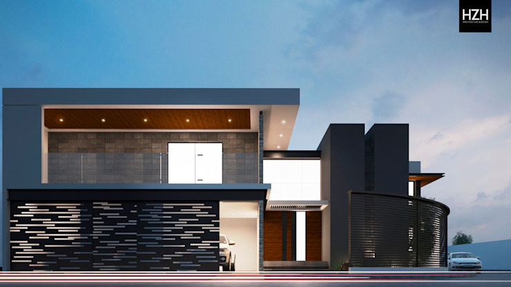 Diseño de fachada principal. Casas modernas de HZH Arquitectura & Diseño Moderno