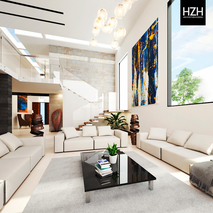 Living room by HZH Arquitectura & Diseño, Modern