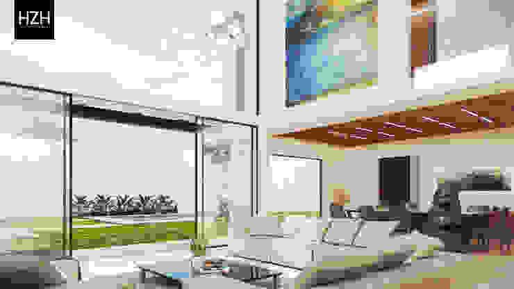 Diseño de interiores y propuesta de mobiliario. Salones modernos de HZH Arquitectura & Diseño Moderno