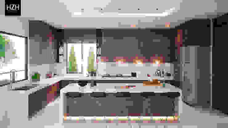 Diseño de cocina e interiores. Cocinas modernas de HZH Arquitectura & Diseño Moderno