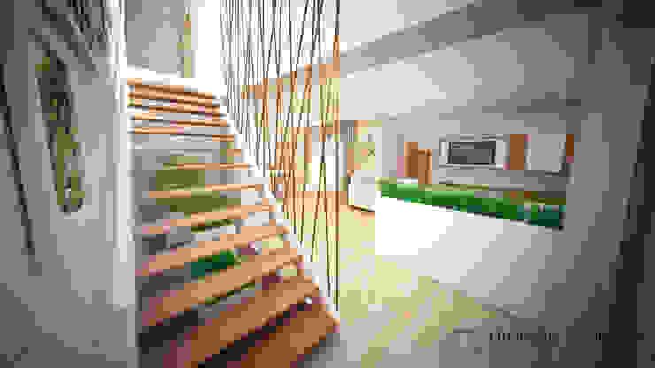 Clean and soft room Corredores, halls e escadas modernos por Andreia Louraço - Designer de Interiores (Contacto: atelier.andreialouraco@gmail.com) Moderno