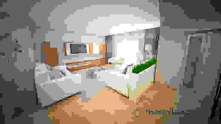 Clean and soft room Salas de estar modernas por Andreia Louraço - Designer de Interiores (Contacto: atelier.andreialouraco@gmail.com) Moderno