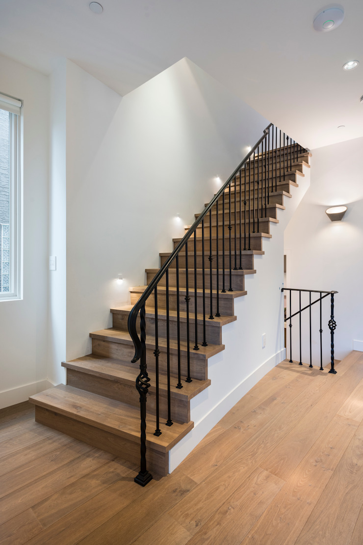 Staircase Alice D'Andrea Design Modern corridor, hallway & stairs Engineered Wood
