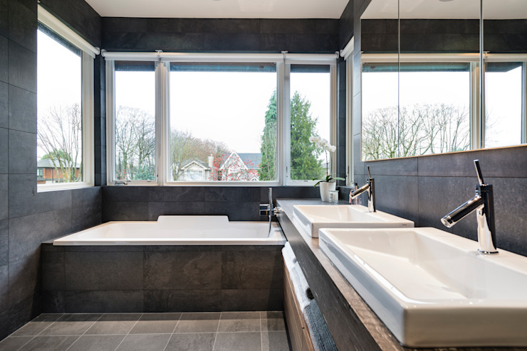 Master Ensuite Modern style bathrooms by Alice D'Andrea Design Modern Tiles