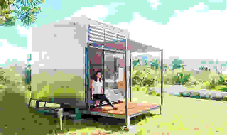 Qcamp 現代房屋設計點子、靈感 & 圖片 根據 FAMWOOD 自然紅屋 現代風