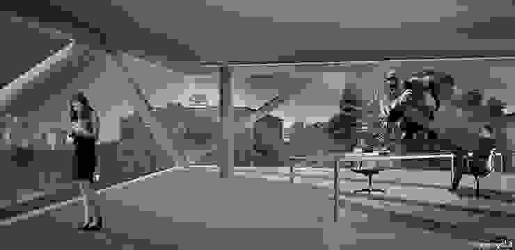 Oficinas y bibliotecas de estilo moderno de michele gambato architetto, mgark Moderno