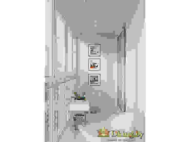 Two room apartment Promenad Студия дизайна интерьера Dking minimalist style balcony, porch & terrace