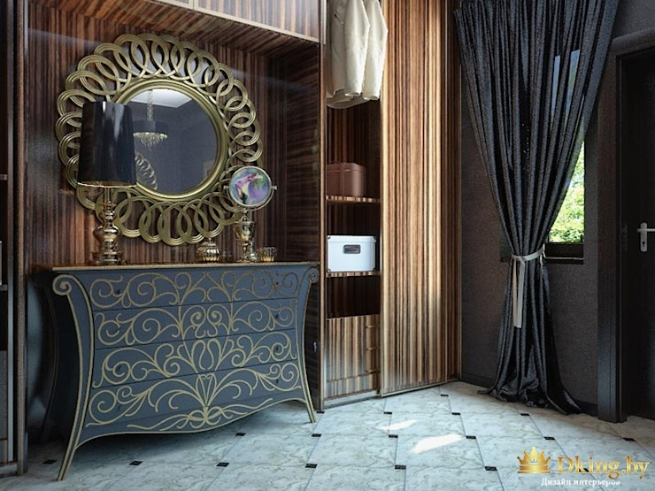 Ar-Deco interior of privet house Студия дизайна интерьера Dking Classic style bedroom