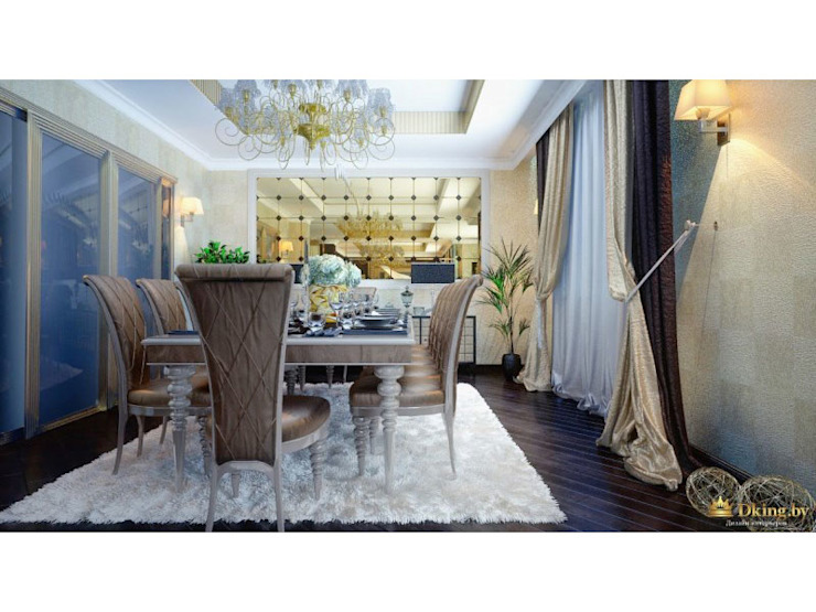 Ar-Deco interior of privet house Студия дизайна интерьера Dking Classic style dining room