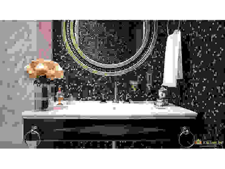 Ar-Deco interior of privet house Студия дизайна интерьера Dking Classic style bathroom