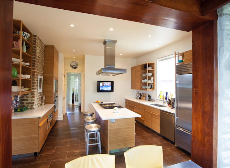 City Park Residence, New Orleans Modern Kitchen by studioWTA Modern