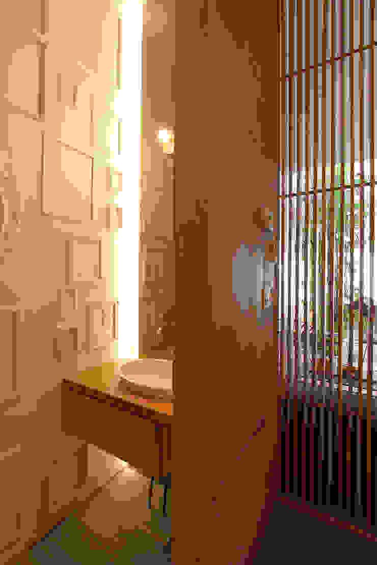 Powder Room Modern Bathroom by AtelierSUN Modern Engineered Wood Transparent