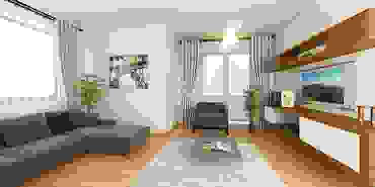 Foreli Evler 6 Modern Oturma Odası Minel Mimarlık Yapı Mühendislik İnşaat Sanayi Ticaret Limited Şirketi Modern