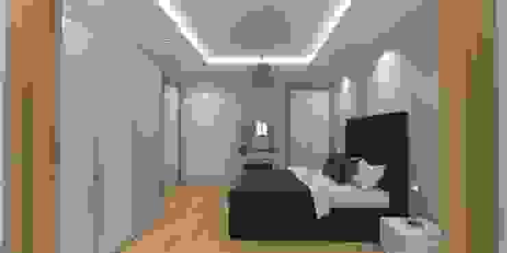 Modern style bedroom by Minel Mimarlık Yapı Mühendislik İnşaat Sanayi Ticaret Limited Şirketi Modern