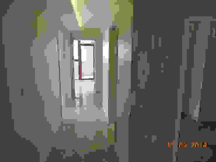 Modern corridor, hallway & stairs by Minel Mimarlık Yapı Mühendislik İnşaat Sanayi Ticaret Limited Şirketi Modern