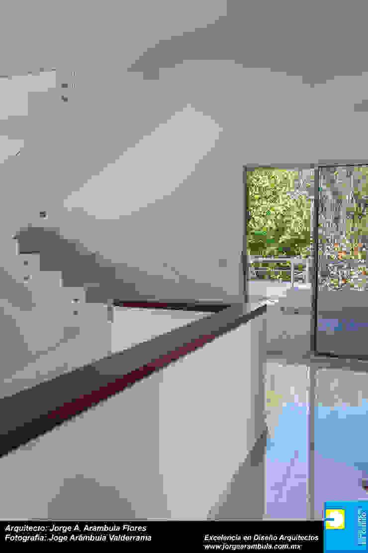 PASILLO Pasillos, vestíbulos y escaleras modernos de Excelencia en Diseño Moderno Madera Acabado en madera
