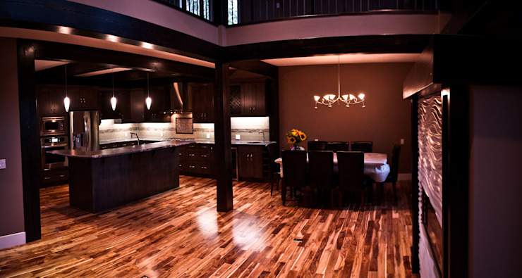 Kitchen and Dining Room Modern kitchen by Drafting Your Design Modern Engineered Wood Transparent