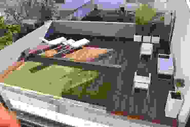 Remodelação de Logradouro / jardim com piscina por espaço MUDE Moderno
