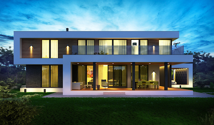Minimalistische huizen van Sboev3_Architect Minimalistisch
