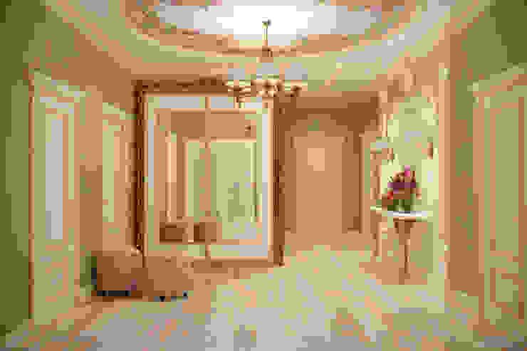 """Дизайн прихожей в классическом стиле в квартире в ЖК """"Ливанский дом"""", г.Краснодар Коридор, прихожая и лестница в классическом стиле от Студия интерьерного дизайна happy.design Классический"""