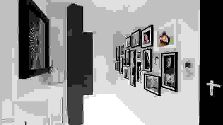 Apartamento Leiria Corredores, halls e escadas modernos por OFICINA - COLECTIVO DE IDEIAS, LDA Moderno