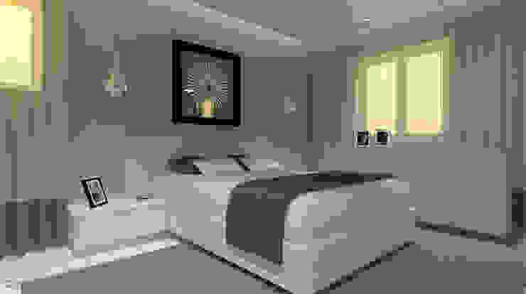 Apartamento Leiria Quartos modernos por OFICINA - COLECTIVO DE IDEIAS, LDA Moderno