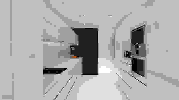 Apartamento Leiria Cozinhas modernas por OFICINA - COLECTIVO DE IDEIAS, LDA Moderno