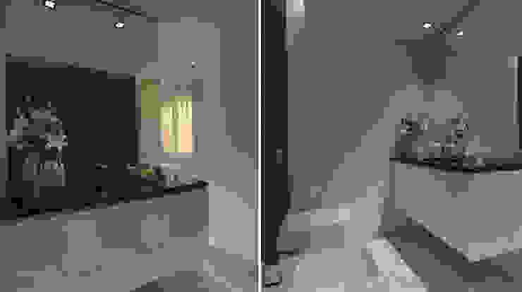 Apartamento Leiria Casas de banho modernas por OFICINA - COLECTIVO DE IDEIAS, LDA Moderno