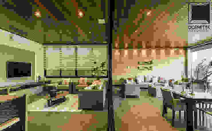 Phòng khách theo Cornetta Arquitetura, Hiện đại