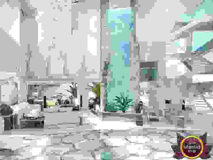 Flying into the future of luxury and comfort of Katrina Antonovich Modern Corridor, Hallway and Staircase by Luxury Antonovich Design Modern