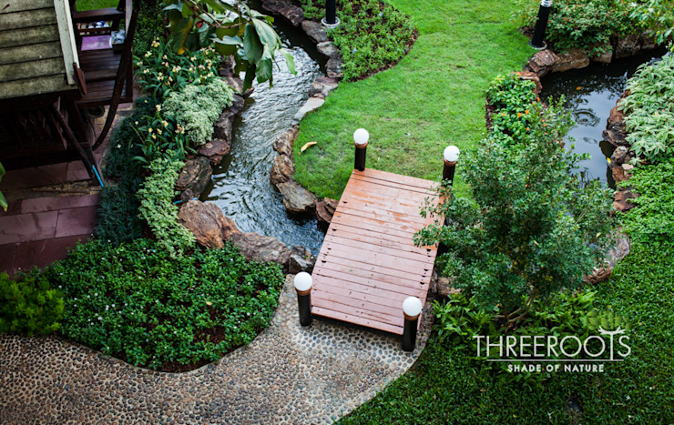 สวนบ้านคุณนิพนธ์ โดย Threeroots Group Co.,Ltd.