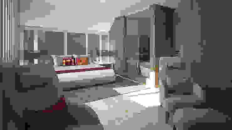 quarto e sala de estar Inside Home Unipessoal LDA. Quartos modernos Multicolor