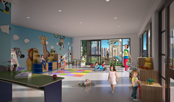 Modern schools by Visualize 3D Modern