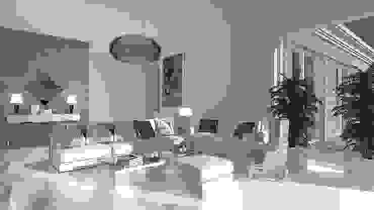 Salas de estilo moderno de JSK STUDIO Moderno