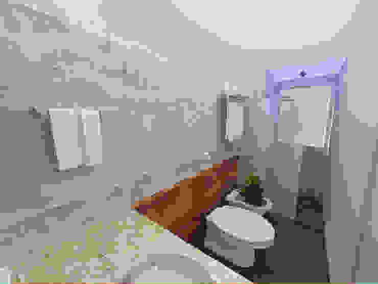 Suíte Estilo Industrial Banheiros industriais por Andressa Cobucci Estúdio Industrial Concreto