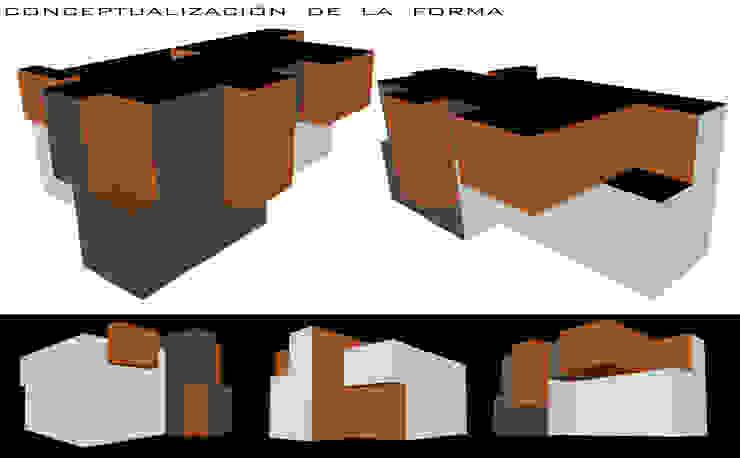 CONCEPTUALIZACION DE LA FORMA EN MATERIALIDADES Casas de estilo rural de GerSS Arquitectos Rural