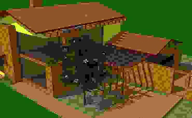 Vista Acceso Casas de estilo rural de ARMANDO PRIETO - ARQUITECTO Rural