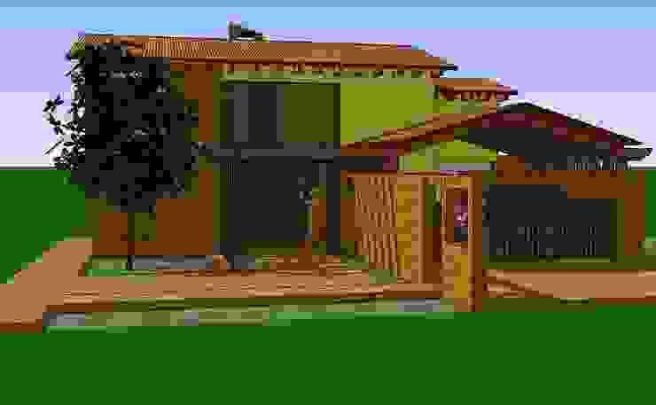 Vista fachada principal Casas de estilo rural de ARMANDO PRIETO - ARQUITECTO Rural