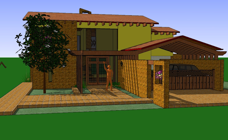 Country style house by ARMANDO PRIETO - ARQUITECTO Country