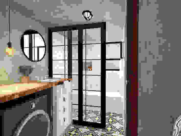 Andressa Cobucci Estúdio Industrial style bathroom Metal Grey
