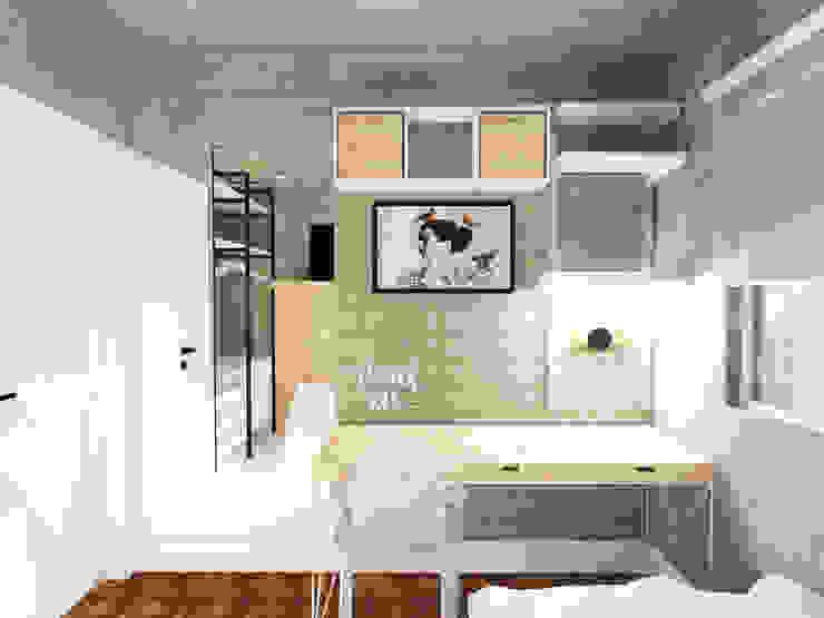 Scandinavian style bedroom by Andressa Cobucci Estúdio Scandinavian Tiles